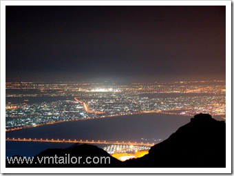 Al Ain city, UAE at night