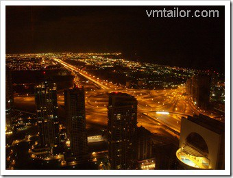 Vivek's Dubai at night